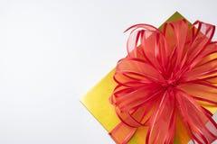 Caixas de presente no fundo branco Foto de Stock Royalty Free