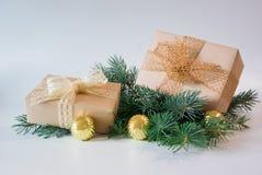 Caixas de presente para o feriado Fotografia de Stock Royalty Free