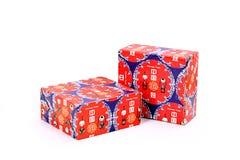 Caixas de presente vermelhas Imagens de Stock Royalty Free