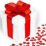 Caixas de presentes com corações de matéria têxtil Fotos de Stock