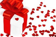 Caixas de presentes com corações de matéria têxtil Foto de Stock