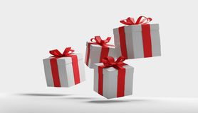 Caixas de presentes 3d-illustration Ilustração Royalty Free