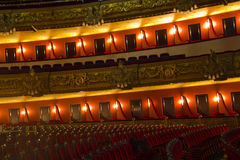 Caixas de Teatro Liceu, Barcelona, Fotos de Stock
