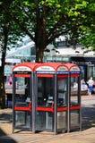 Caixas de telefone, Coventry Imagens de Stock