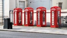 Caixas de telefone em Londres imagens de stock