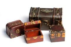 Caixas de tesouro Fotografia de Stock