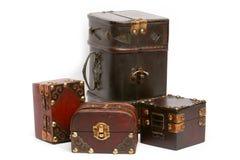 Caixas de tesouro Fotos de Stock