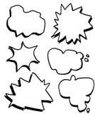 Caixas de texto cômicas da tração da mão Imagens de Stock