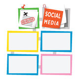Caixas de texto coloridas Imagens de Stock Royalty Free
