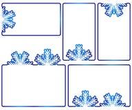 Caixas de texto do inverno Foto de Stock Royalty Free