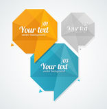 Caixas de texto do vetor, bandeira das opções do infographics Fotografia de Stock Royalty Free