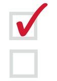 Caixas de verificação eps8 Fotografia de Stock