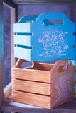 Caixas decorativas, gavetas Caixa interior Caixas coloridas Fotografia de Stock