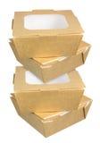 Caixas do alimento Imagem de Stock Royalty Free