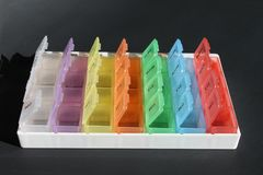 Caixas do comprimido Imagem de Stock