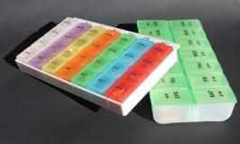 Caixas do comprimido Imagens de Stock Royalty Free