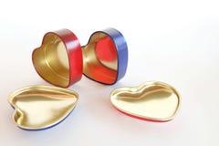 Caixas do coração Imagens de Stock Royalty Free