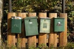 Caixas do correio imagens de stock royalty free