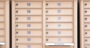 Caixas do correio Fotografia de Stock