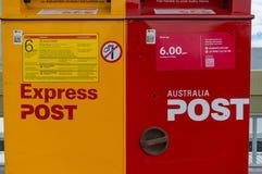 Caixas do correio do cargo de Austrália Fotografia de Stock