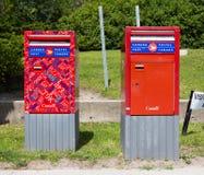 Caixas do correio do cargo de Canadá Imagem de Stock Royalty Free