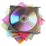 Caixas do disco Fotografia de Stock Royalty Free