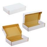 Caixas do Livro Branco isoladas no fundo branco Fotos de Stock