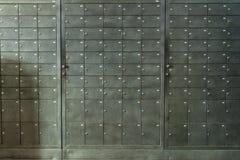 Caixas do metal para armazenar pertences Fotografia de Stock