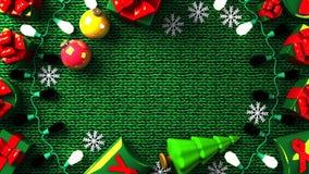 Caixas do presente de Garland Lights e de Natal ilustração stock