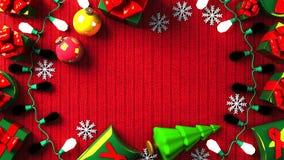 Caixas do presente de Garland Lights e de Natal ilustração royalty free