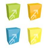 Caixas do software ilustração royalty free