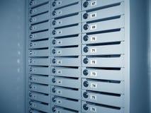 Caixas do usuário no banco. Foto de Stock Royalty Free