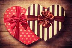 Caixas do Valentim da forma do coração Fotos de Stock Royalty Free