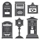 Caixas dos cargos e de letra do correio da rua do vintage Imagens de Stock