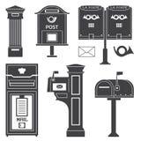 Caixas dos cargos e de letra do correio da rua do vintage Imagem de Stock