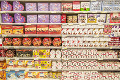 Caixas dos doces Fotografia de Stock