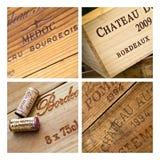 Caixas dos vinhos Imagem de Stock Royalty Free