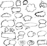 Caixas e balões de diálogo em formas diferentes ilustração do vetor