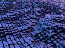 Caixas e fundo dos quadrados Fotografia de Stock