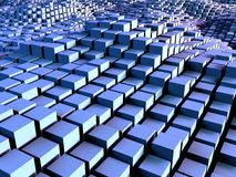 Caixas e fundo dos quadrados Imagens de Stock