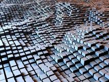 Caixas e fundo dos quadrados Foto de Stock