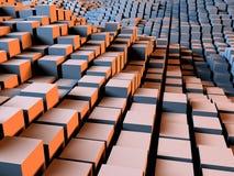 Caixas e fundo dos quadrados Imagem de Stock