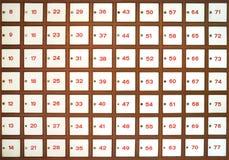 Caixas do correio da estação de correios Foto de Stock