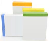 Caixas em branco do alimento da etiqueta fotos de stock