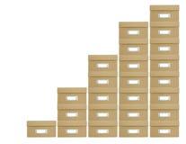 Caixas empilhadas Imagem de Stock