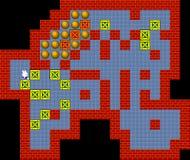 Caixas, gráficos pixelated do estilo jogo retro ilustração stock