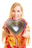 Caixas Heart-shaped fotos de stock