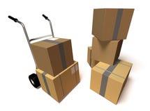 Caixas moventes ilustração stock