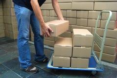 Caixas moventes Imagem de Stock