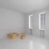 Caixas moventes na HOME Imagem de Stock